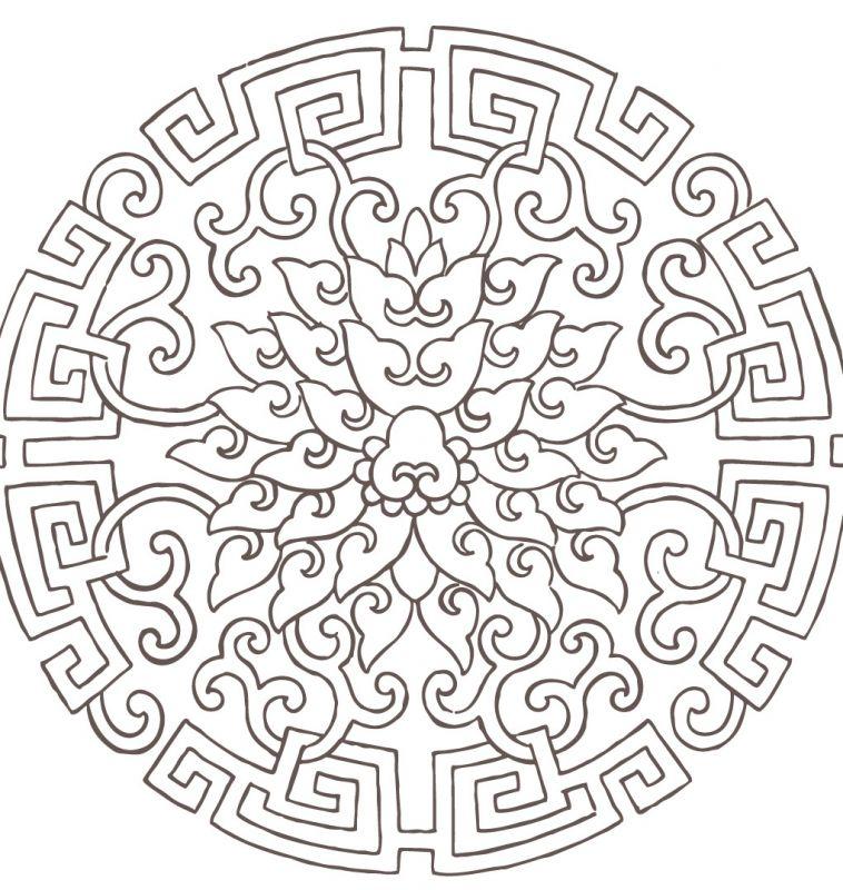 凹凸黑白-黑白古典 647