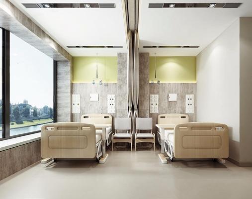 病房 医院 病房 病床 单椅