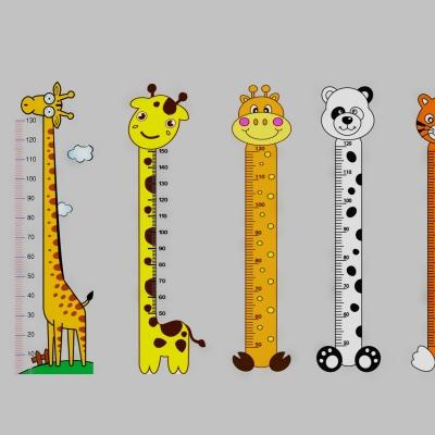 现代幼儿园量身高卡通标尺组合3D模型