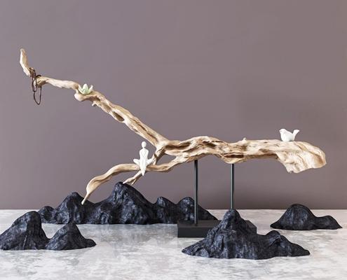 新中式根雕摆件 新中式根雕 摆件