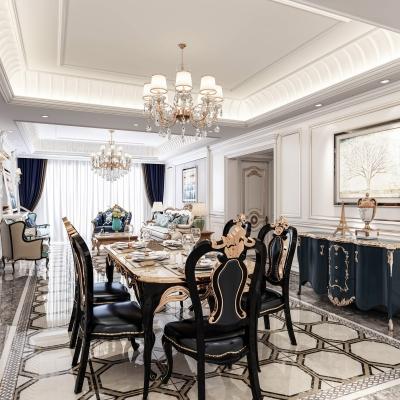 简美客厅餐厅3d模型