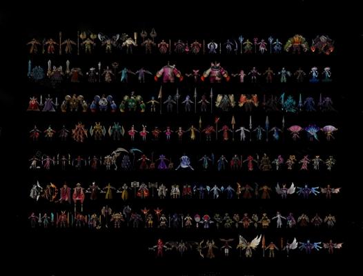 现代游戏角色3D模型