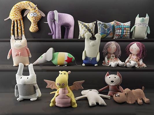 毛绒玩具公仔卡通玩具布娃娃 现代玩具 毛绒玩具 公仔卡通玩具 布娃娃