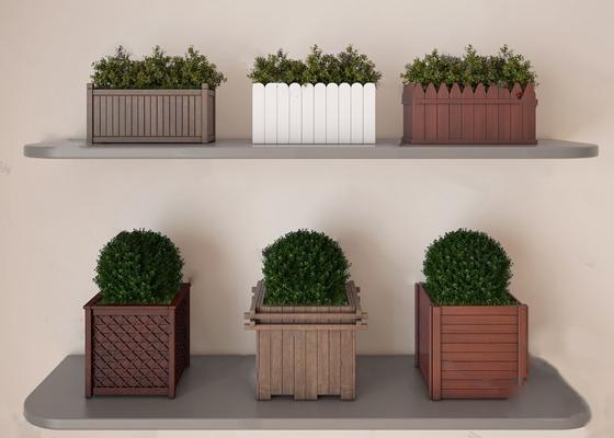 现代花箱3D模型