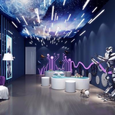 现代机器人展厅3D模型