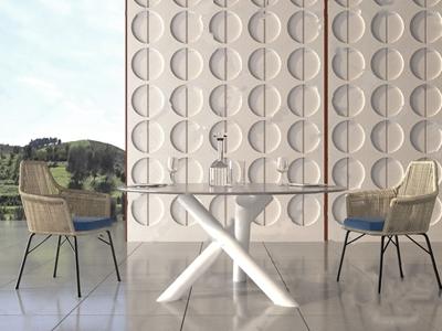 现代户外餐桌椅 现代户外椅 圆餐桌 藤椅