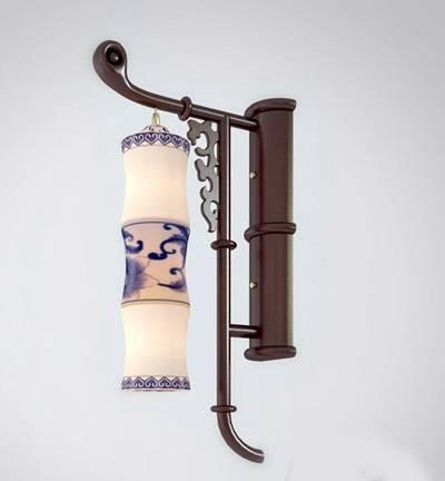 新中式木艺壁灯