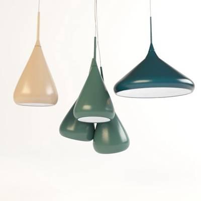 北欧绿色铁艺吊灯