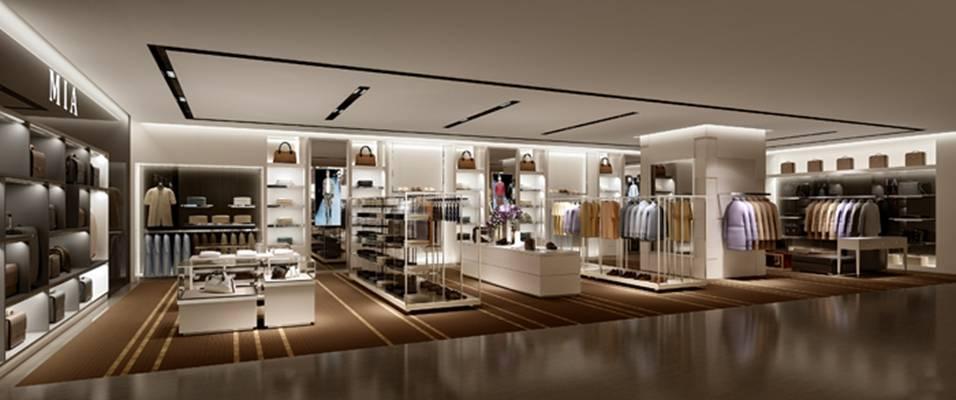 现代服装专卖店