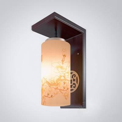新中式黄色陶艺壁灯