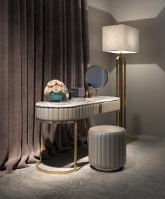 现代梳妆台落地灯组合3D模型