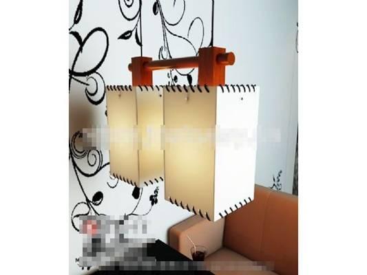 日式米色羊皮吊灯