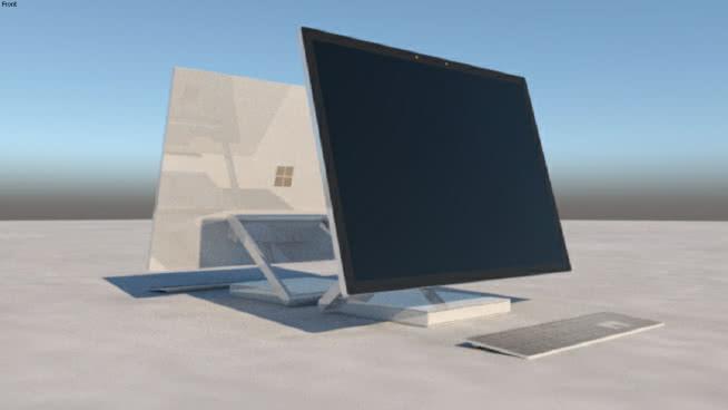 微软表面工作室 显示器 笔记本电脑 电脑 书桌