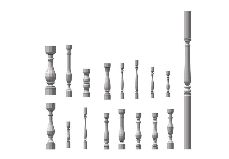 宝瓶栏杆组合SU模型