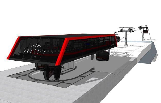 缆车设备SU模型
