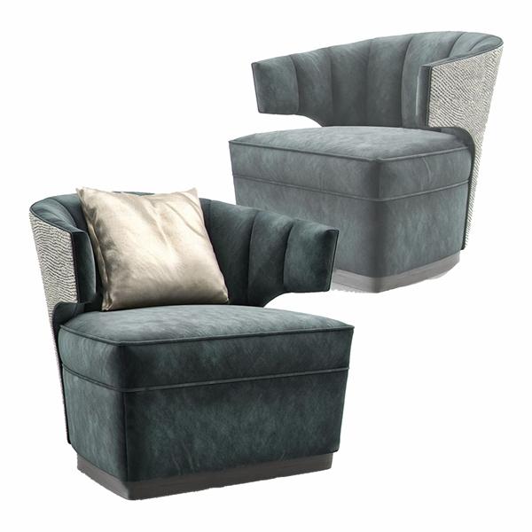 现代轻奢单人沙发