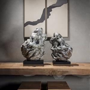 新中式石头摆件 新中式摆件 山石 装饰画