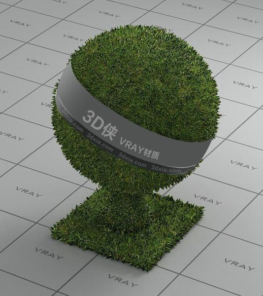绿色草地Vray材质下载
