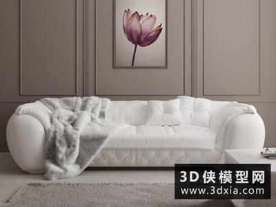 現代皮沙發