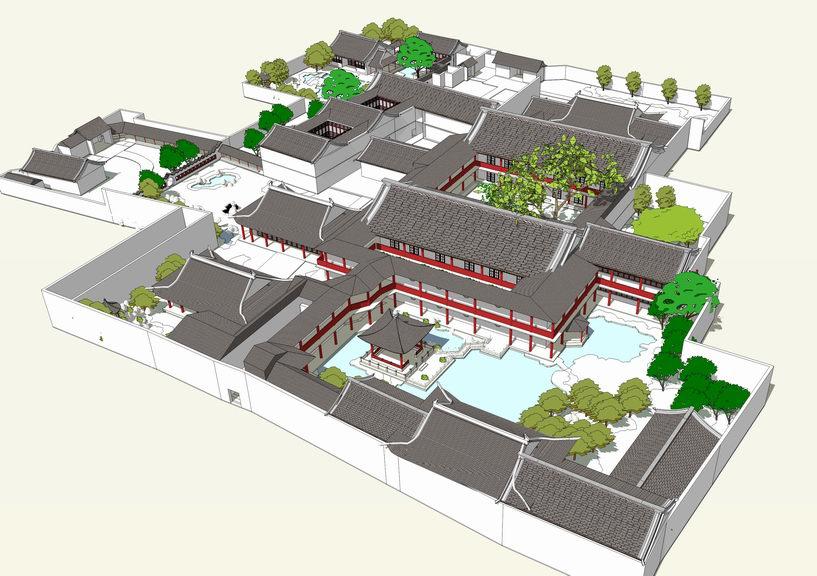 扬州何园SU模型
