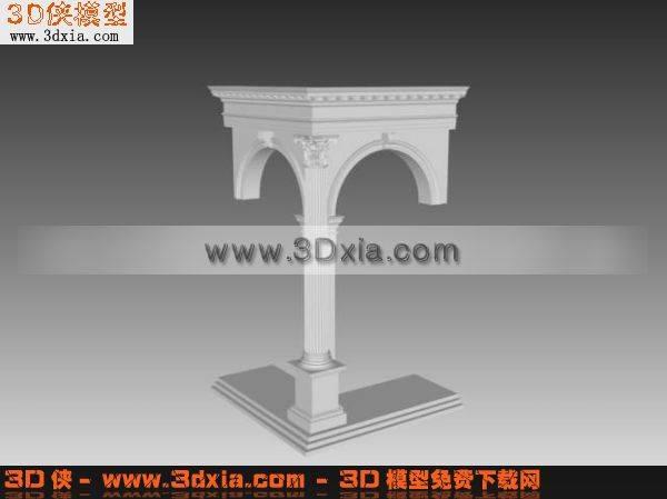 3D欧式结构模型