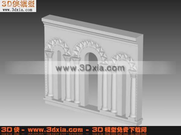 欧式结构3D模型
