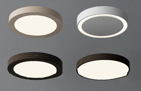 现代圆形吸顶灯组合3d模型