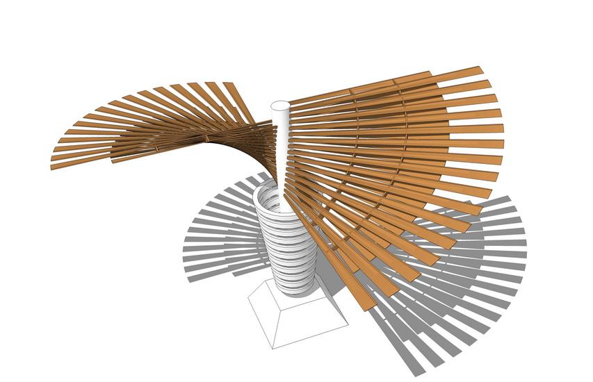 异形花架SU模型