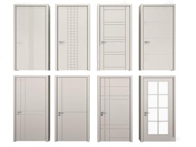 现代单开门房门3d模型