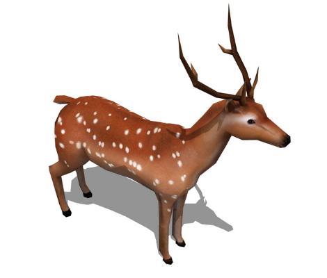 鹿SU模型