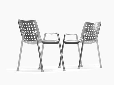 瑞士 VITRA Landi 铝合金户外椅 现代户外椅 金属户外椅 VITRA