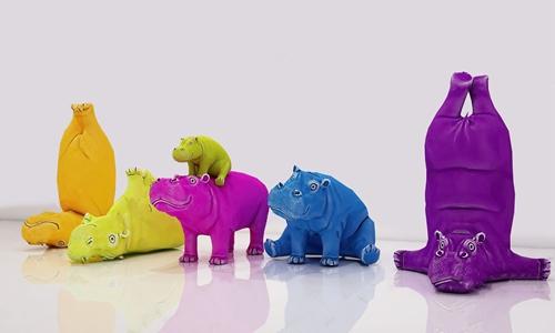 现代儿童河马玩具 现代玩具 河马玩具