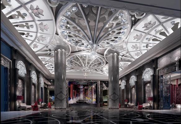 欧式酒店大堂3D模型