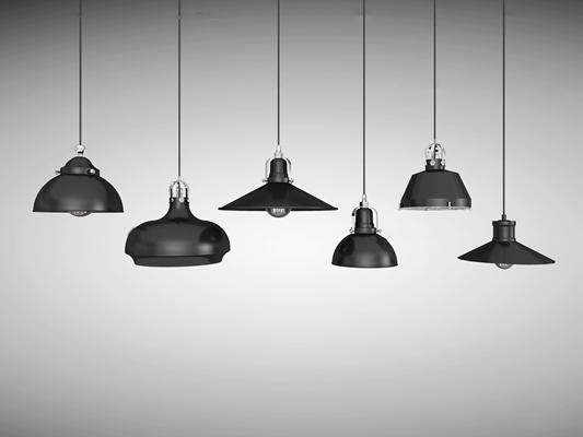 工业风金属吊灯3D模型