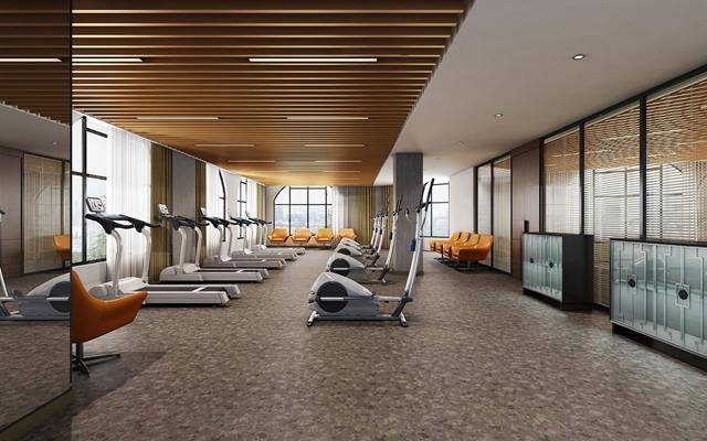 现代健身房会所3D模型