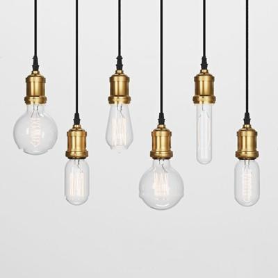 工业风玻璃小灯泡吊灯组合3d模型