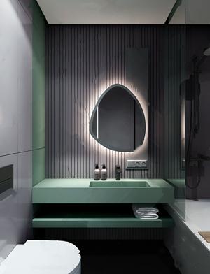 现代摩登卫生间组合 现代卫浴 台盆 浴缸 坐便器 洗漱用品