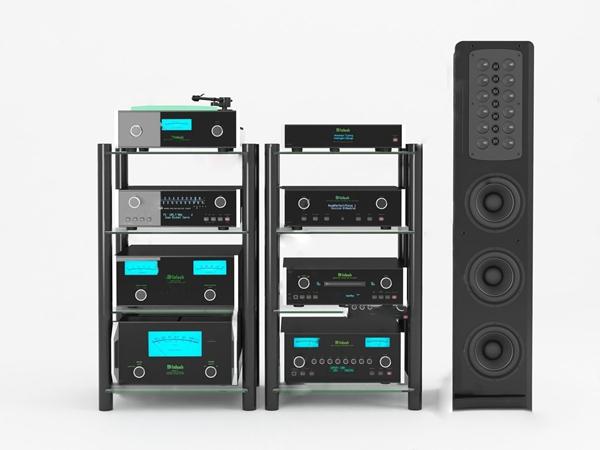 现代音响录播设备3d模型