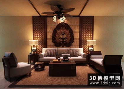 东南亚客厅沙发