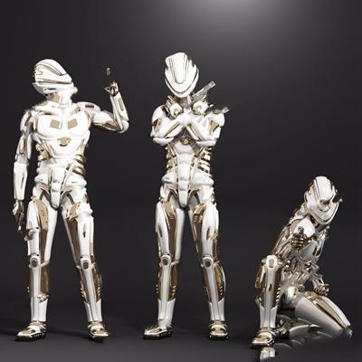 玩具盔甲 现代玩具 玩具盔甲 机器人
