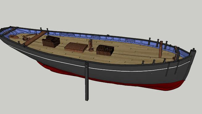 圣米歇尔湾传统船 船 救生艇 快艇 集装箱船 邮船