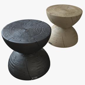 现代实木凳子3D模型
