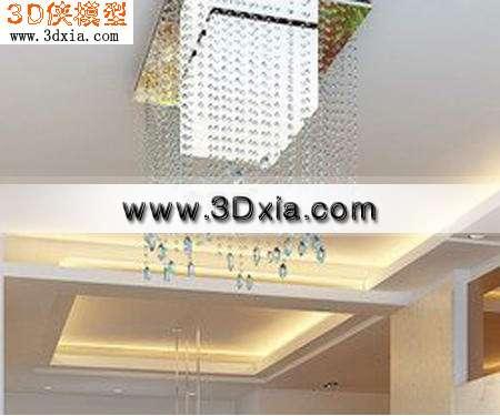 欧式灯-水晶灯3D模型下载
