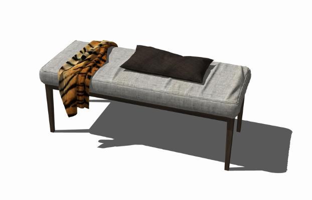 床尾凳SU模型