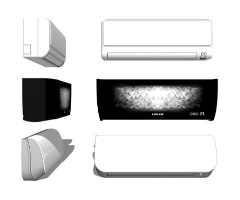 现代壁挂式空调组合SU模型
