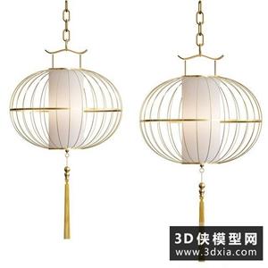 中式金属吊灯