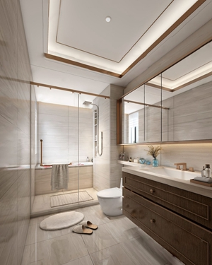 现代卫生间 现代卫浴 卫浴柜 马桶 淋浴间 浴缸