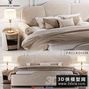 現代風格布藝床