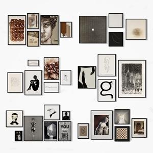 现代装饰画挂画照片墙 现代挂画相框 装饰画 相框 照片墙 墙饰 挂饰 现代照片墙 现代装饰画 现代挂画