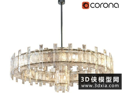 现代玻璃吊灯